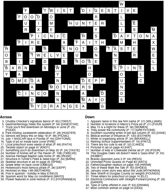 May 2017 Crossword Puzzle